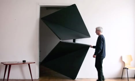 Evolution Door Reinvented With Folding Mechanism By Klemens Torggler
