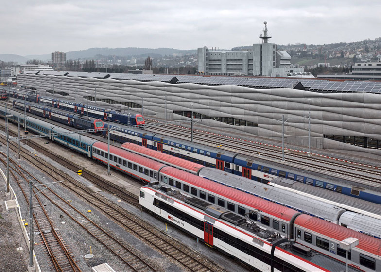 Extension of Railway Service Facility in Zurich-Herdern by EM2N Architects