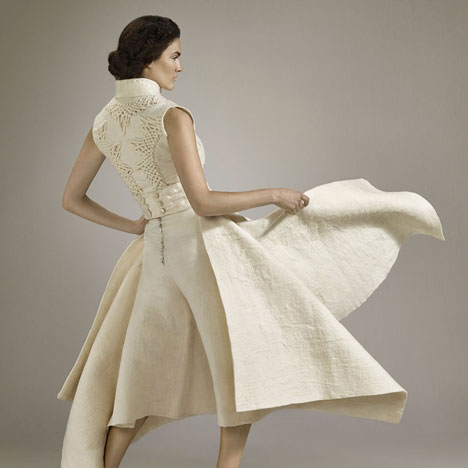 Fashion collection woven from Uruguayan wool by Mercedes Arocena and Lucía Benítez