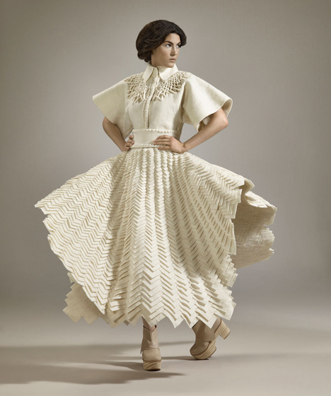 Fashion collection woven from Uruguayan wool by Mercedes Arocena and Lucia Benitez