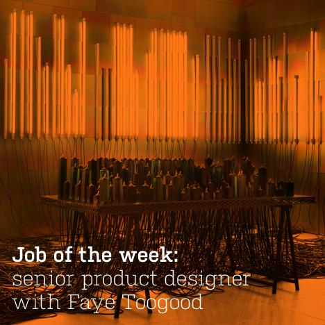 Job of the week: senior product designer with Faye Toogood