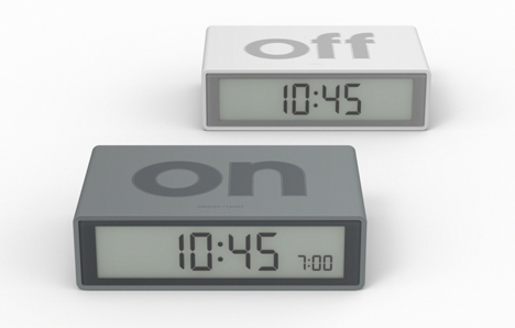 FLIP alarm clock turns off by turning it over