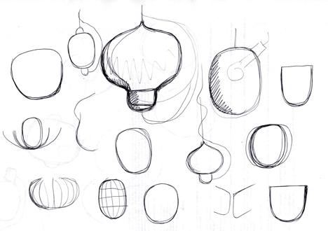 Fondue lamp shaped like a cheese-melting pot by Luca Nichetto