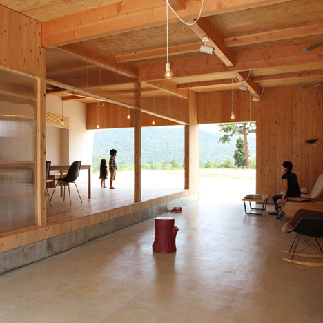 Hinanai Village House opens out to a scenic mountain landscape