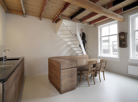 Nice Unknown Architects Updates 200 Year Old House With Twisting Staircase And  Wooden Furniture