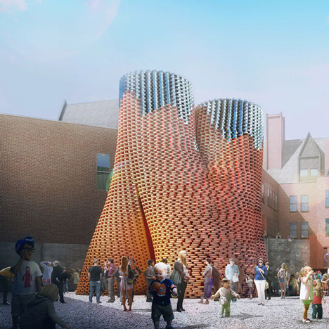 Organic tower grown from agricultural waste wins MoMA PS1 Young Architects Program 2014