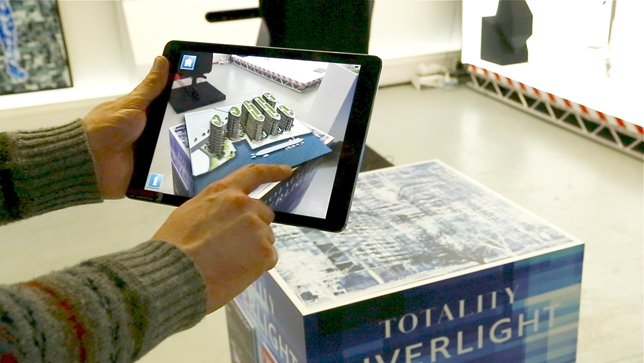 Inition augmented reality architecture installation