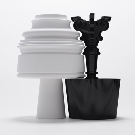 Nendo, Starck and more reinterpret Kartell's Bourgie lamp