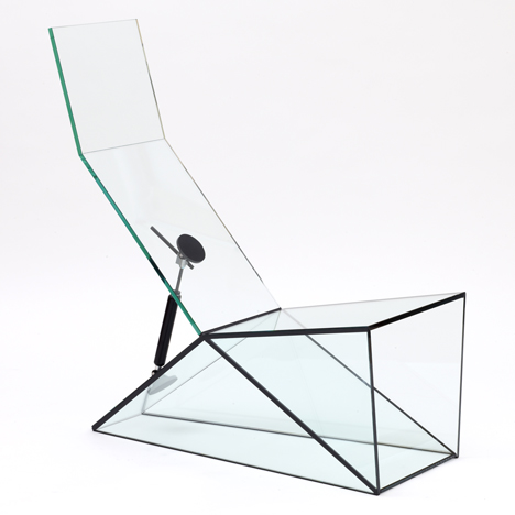 Konstantin Grcic designs glass furniture with moving parts for Galerie Kreo show