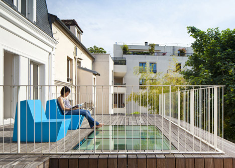 Maison a Vincennes by Atelier Zundel Cristea features glass-walled extension