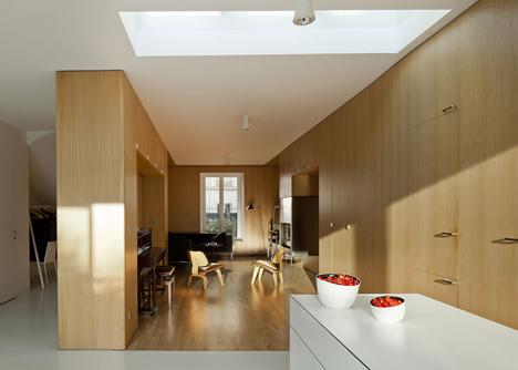 Maison a Vincennes by Atelier Zundel Cristea features glass-walled extension
