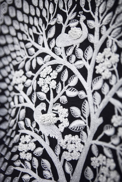 Material detail at the BE OPEN Made In... India exhibition