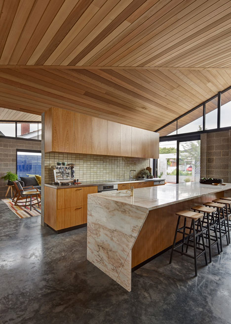 Melbourne house by MRTN Architects features courtyard with window-like apertures