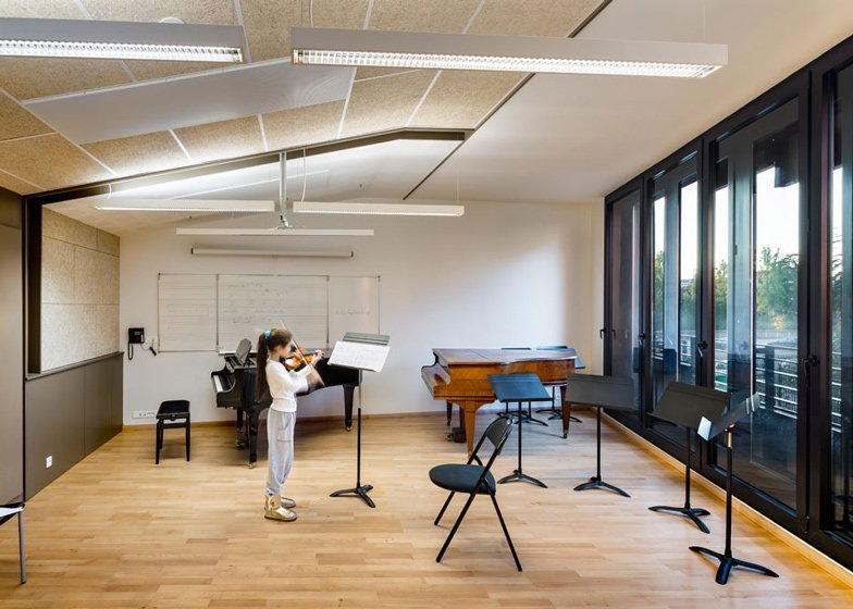 8 Of 17; Music Conservatory In Paris With Cantilevered Studios By Basalt  Architecture