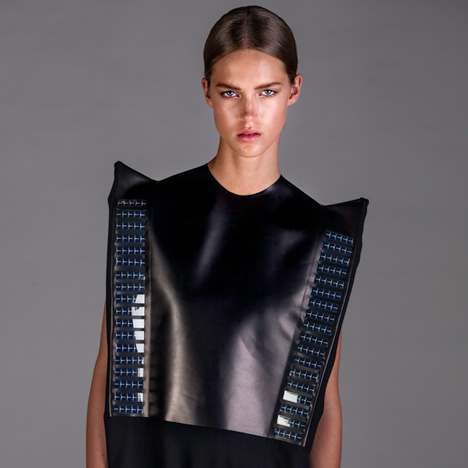 Pauline van Dongen's Solar Wear dress