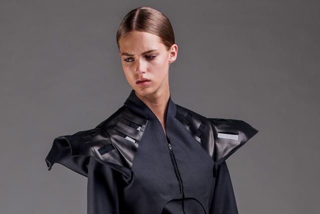 Pauline van Dongen's Solar Wear coat