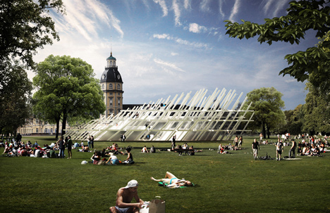 Pavilion for the City Jubilee by J. Mayer H.