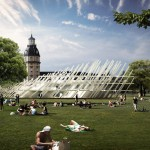J Mayer H designs gridded pavilion for Karlsruhe's 300-year anniversary