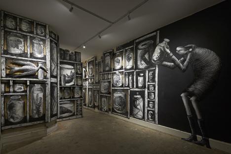 Phlegm graffiti exhibition at Howard Griffin Gallery_dezeen_5
