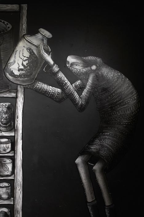 Phlegm graffiti exhibition at Howard Griffin Gallery_dezeen_6