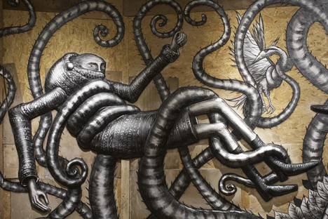 Phlegm graffiti exhibition at Howard Griffin Gallery_dezeen_7