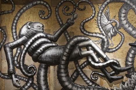 Phlegm graffiti exhibition at Howard Griffin Gallery_dezeen_7