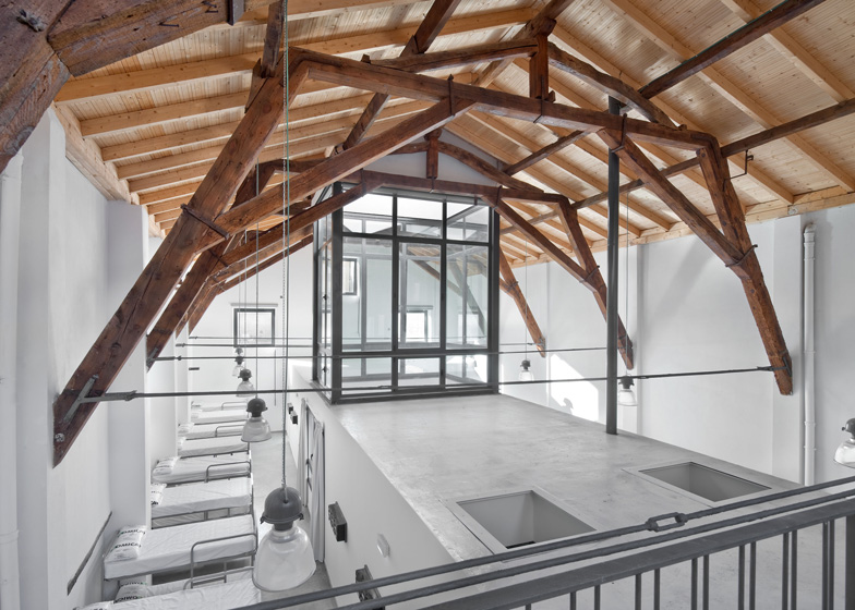 Pilgrim Hostel by Sergio Rojo provides rest stop on a medieval travellers route
