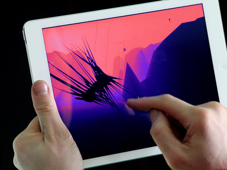 Augmented reality app by Universal Everything creates bespoke images for Radiohead music