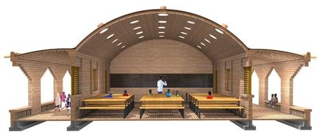 Primary school Tanouan Ibin in Mali by Levs Architecten
