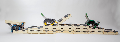Robotic bricklayers developed to work like termites