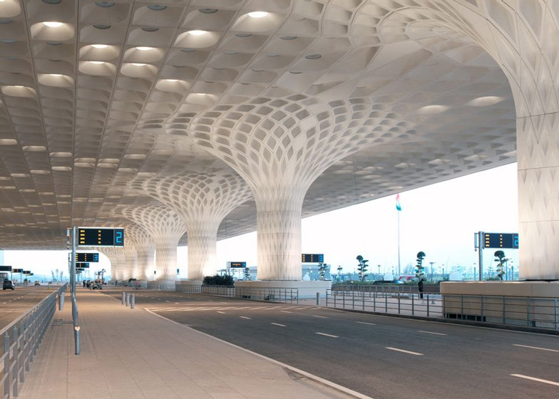 8 of 8; umbai airport terminal with coffered concrete canopy & SOM completes Mumbai airport terminal with coffered canopy
