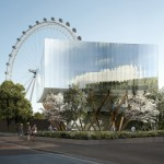 London Eye-designer Marks Barfield Architects plans elevated glass pavilion next door