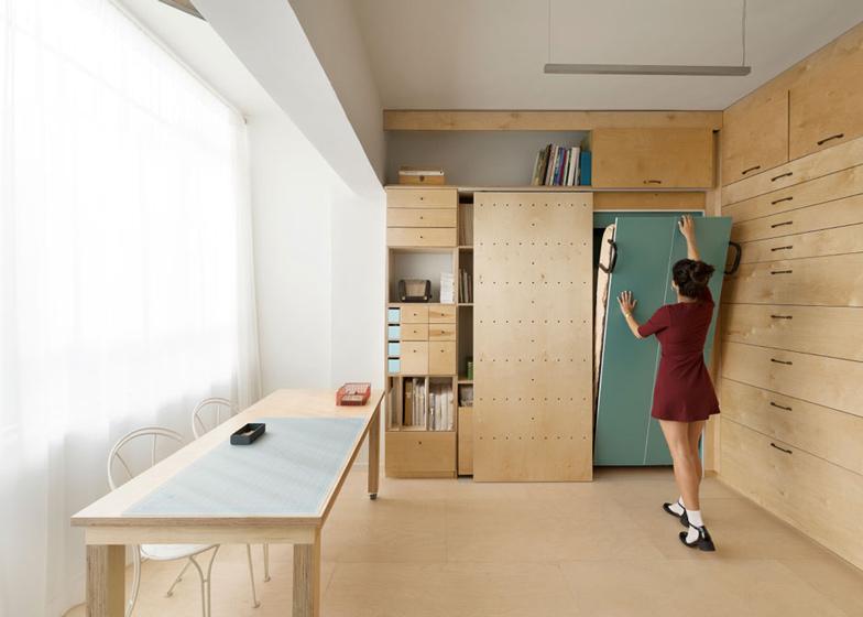 Space saving modular studio for an artist by raanan stern dezeen ss 1
