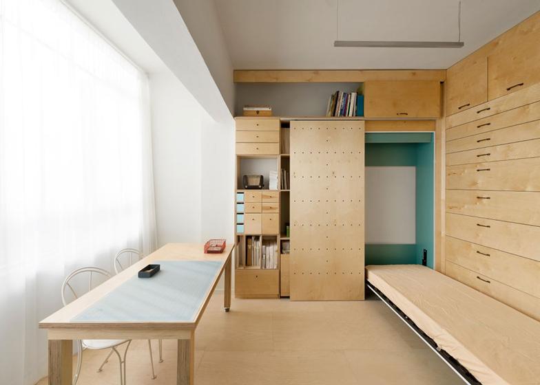 Space saving modular studio for an artist by raanan stern dezeen ss 6