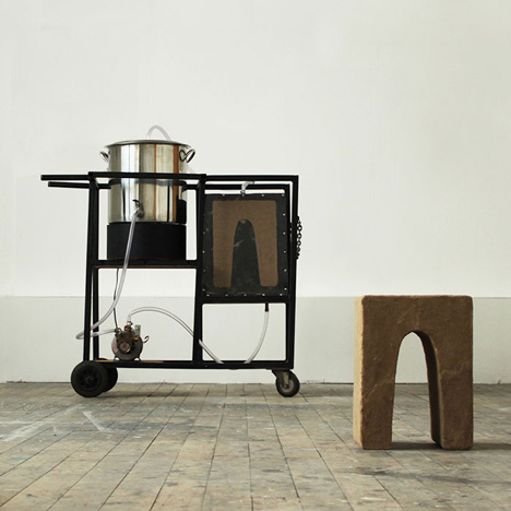 Stools made of sand and urine by Peter Trimble