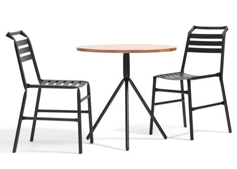 Straw kinked tubular steel furniture by Osko and Deichmann for Bla Statio