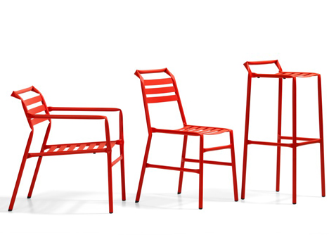 Straw kinked tubular steel furniture by Osko and Deichmann for Bla Statio