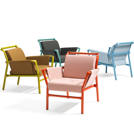 Osko+Deichmann extends kinked steel furniture range