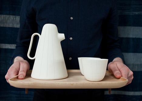 Luca Nichetto and Mjölk collaborate to make coffee set
