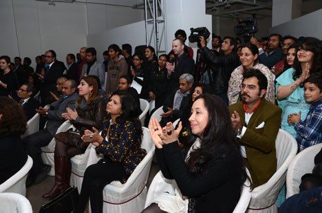 Audience at a talk during the BE OPEN Made In... India exhibition