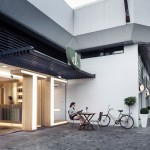 Huge glowing letters lead inside El Té tea house by Estudio 30 51