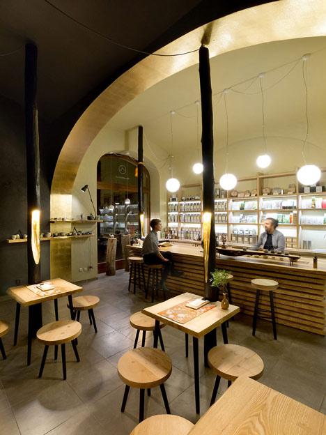 Tea Mountain cafe by A1 Architects based on Japanese tea houses