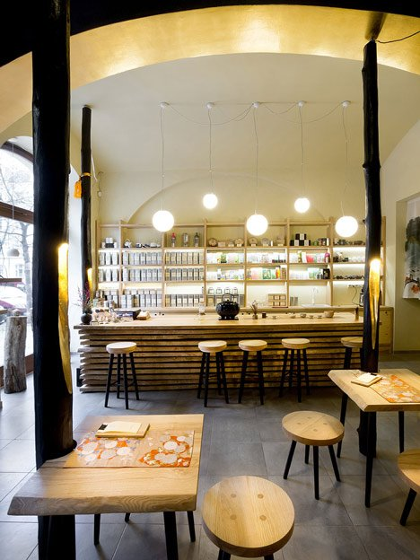 Tea shop in Prague by A1 Architects