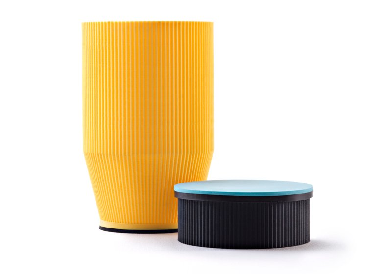 Tableware by ICOSAEDRO designed to be printed out at home