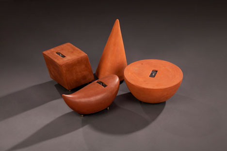 Terracotta speakers by Thukral&Tagra at BE OPEN Made In... India exhibition