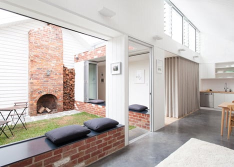Turnaround House by Architecture Architecture opens onto a courtyard
