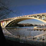 Stockholm bridge transformation by Visiondivision to include a sheltered promenade and cinema