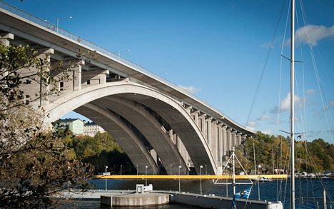 Under the Bridge in Stockholm by Visiondivision