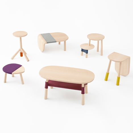 Nendo bases furniture for Walt Disney Japan<br /> on Winnie-the-Pooh characters