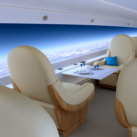 World's first supersonic private jet will replace<br /> windows with live-streaming screens